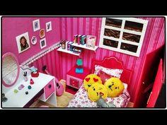 Coisas que Gosto: Como fazer: Um quarto decorado para bonecas Barbie...