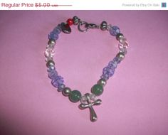 BLOWOUT SALE Made With Love Cross Bead by 5DollarMaddness on Etsy, $2.50