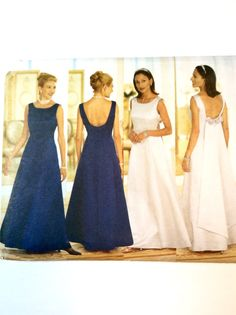 Butterick 5875 Wedding Gown Bridesmaids' Dress, Prom Dress, Formal Wear Pattern by DonnaDesigned