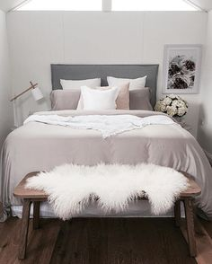 I've been looking back over my work from last year to see which was my favorite bedroom look...you know...cause I'm an interiors nerd  This one was definitely up there! It has a lovely soft muted colour palette that I just love!