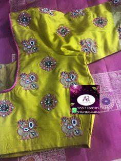 Pattu Saree Blouse Designs, Blouse Designs Silk, Bridal Blouse Designs, Simple Blouse Designs, Stylish Blouse Design, Mirror Work Blouse Design, Maggam Work Designs, Pink Lehenga, Saree Models