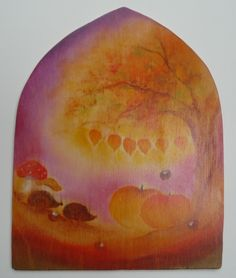 Herfst tafereel - origineel (VERKOCHT)
