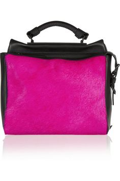3.1 PHILLIP LIM /// Ryder small two-tone leather and calf hair satchel