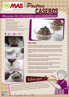 Mousse de chocolate para diabéticos