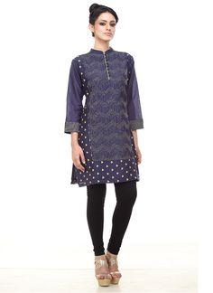 Abhijeet Khanna Blue Silk Cotton Tunic
