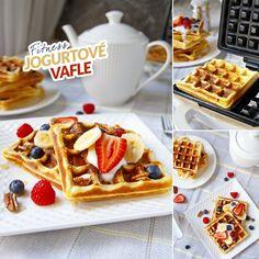 Fit jogurtové vafle - recept Bajola Kefir, Treats, Breakfast, Sweet, Food, Goodies, Hoods, Meals, Sweets