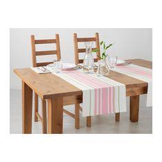 Pink stripy table runner - IKEA
