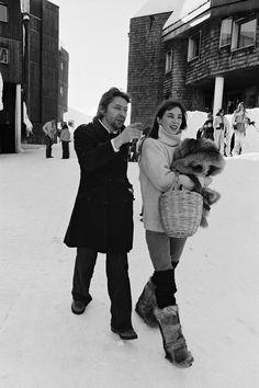 Les stars au ski - Jane Birkin & Serge Gainsbourg