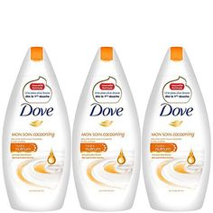 Dove gel douche huile-crème 400ml – Lot de 3: Nouvelle formule inédite Une peau plus douce dès la première douche Contient de…