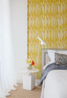yellow accent wall w