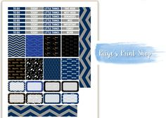 Harry Potter - Ravenclaw House Weekly Kit for the Erin Condren Life Planner - PRINTABLE / DOWNLOADABLE for the ECLP by PaigesPrintShop on Etsy Harry Potter Planner, Harry Potter Diy, Printable Stickers, Printable Planner, Printables, Erin Condren Life Planner, Ravenclaw, Kit, How To Plan