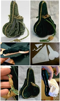 16th century purse (of a rather curious shape) tutorial, on MorganDonner.com