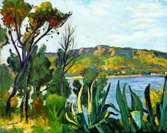 "Art Pics Channel on Twitter: ""Albert Marquet - View of Agay 1905 https://t.co/yA1xlxQNFr"""