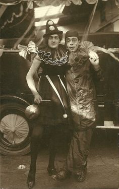 very rare transvestite clow postcard 1920`