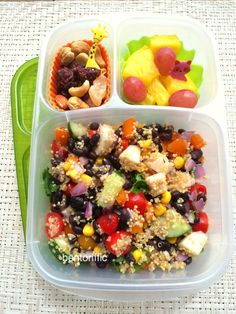 Southwest Quinoa Salad in #EasyLunchboxes container