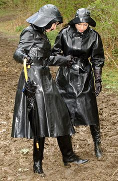 Black Rubber Raincoats