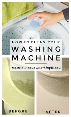 How to clean your washing machine so it is shiny and scum-free, just like the day you bought it! via @somewhatsimple