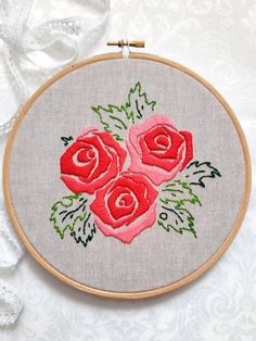 Hoop Art Embroidery. Modern hand embroidery. Wall Decor. Hand