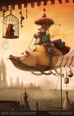 Fly Cabu! by Leticia Reinaldo   Cartoon   3D   CGSociety