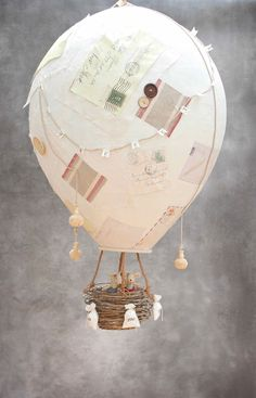 DIY Papier Mache Hot Air Balloon from www.katescreativespace.com