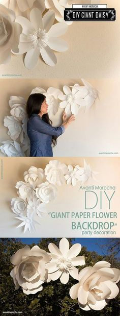 Decora tu fiesta con flores de papel gigantes http://tutusparafiestas.com/decora-tu-fiesta-con-flores-de-papel-gigantes/ Decorate your party with giant paper flowers #Babyshower #Decoratufiestaconfloresdepapelgigantes #Decoracióndebodas #Decoracióndeeventos #Fiestasinfantiles #Ideasparafiestas