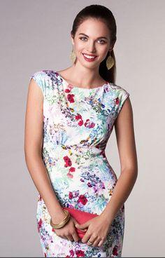 9287e7fc0a06 Pippa Shift Day Dress Poppy - Evening Dresses