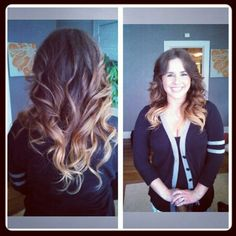 Blonde ombre'.