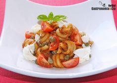 Receta de pasta con salsa de tomate en aceite
