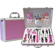i better buy this ASAP! can't ever find the tool im looking for in Tom's mess! Barbie, Girls Nail Designs, Best Hand Tools, Tools For Women, Yard Tools, Home Repairs, Everything Pink, Cool Things To Buy, Stuff To Buy