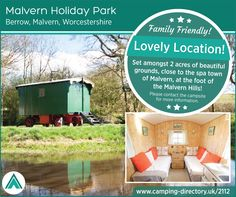 Malvern Holiday Park Berrow, Malvern, Worcestershire, England. Glamping. Camping. Holiday. Outdoors. Explore. Family. Romantic. Countryside. UK.