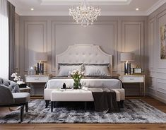 Nightstands, beds, side tables, cabinets or armchairs are some of the luxury bedroom furniture tips that you can find. Every detail matters when we are decorating our master bedroom, right? Modern Luxury Bedroom, Luxury Bedroom Furniture, Luxury Bedroom Design, Master Bedroom Design, Contemporary Bedroom, Luxurious Bedrooms, Master Suite, Modern Classic Bedroom, Interior Design