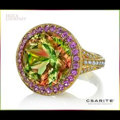 Of all the color-change gemstones in existence, which are limited to just two basic colors, only @csarite has the ability to display a spectrum of colors. #CSARITE #spectrumofcolors @ericacourtneyjewels