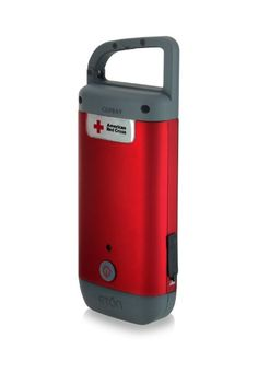Etón American Red Cross CLIPRAY USB Cell Phone Charger with Hand Crank LED Flashlight