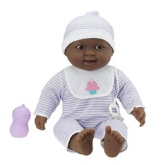 Amazon.com: JC Toys 'Lots to Cuddle Babies' African American 20-Inch Purple Soft Body Baby Doll and Accessories Designed by Berenguer: Toys & Games