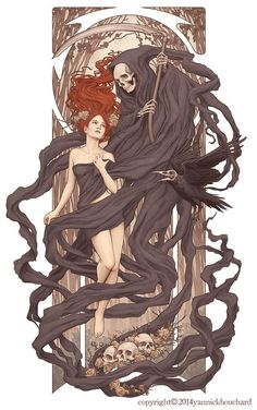 Cool Digital Illustrations by Yannick Bouchard, hades and persephone?