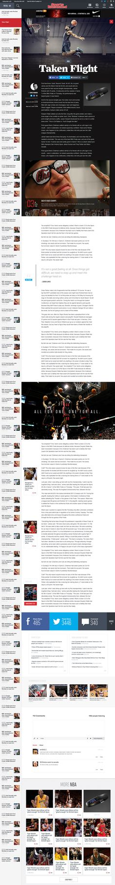 Sports Illustrated by FI // Hi Friends, look what I just found on #web #design! Make sure to follow us @moirestudiosjkt to see more pins like this | Moire Studios is a thriving website and graphic design studio based in Jakarta, Indonesia.