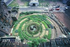 From 1975-1980 Activist Adam Purple Built a Circular Urban Garden in New York that 'Knocked Down' the Surrounding Buildings ---  1979 - Still from Adam Purple and the Garden of Eden / Harvey Wang and Amy Brost
