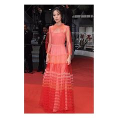 """At the premiere of """"The Handmaiden"""" for the 69th #cannesfilmfestival actress Kim Min Hee wore a #GucciSS16 tulle gown by #AlessandoMichele. #cannes2016"""