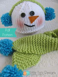 1000+ images about gorro navideno on Pinterest Snowman hat, Crochet santa h...