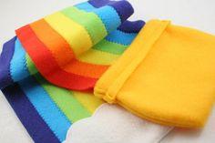 Pot o'Gold Rainbow Scarf