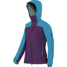 Mammut - Luina Tour HS Hooded Jacket - Women's  - Velvet/Atlantic