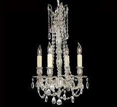 Biella Collection 4 Light Medium Brass & Crystal Chandelier