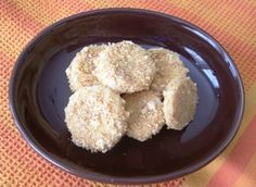 """""""Banana Cookies"""" A fun way to get kids to eat fruit.  My two year old loved the idea of eating """"cookies"""" for a snack"""