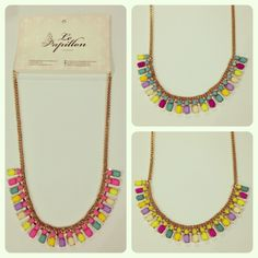 Sunny Side Necklace - PhP 980 Color: Pink, Blue and Yellow Quantity: 2 pcs. each color  To place an order, please text/iMessage/Viber/WhatsApp/WeChat 0999-8894770 or fill out an order form at http://facebook.com/LePapillonAccessories.