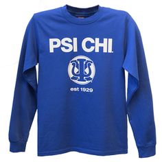 Psi Chi Long Sleeve Logo  Size Medium
