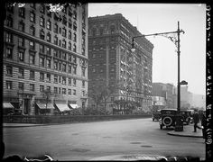 Broadway Series. Looking south from 87th Street showing east side of Broadway. Bretton Hall at left.