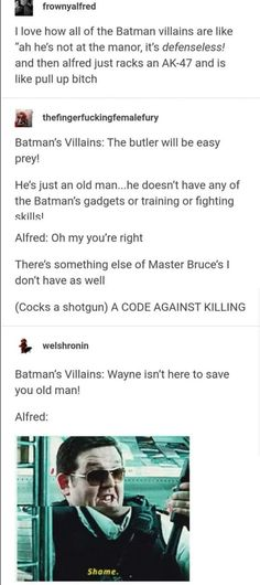 Alfred got the Choppa - Funny