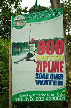 Cebu's 800 meter zipline over water. Cebu City, Water, Pictures, Gripe Water, Photos, Cebu, Grimm