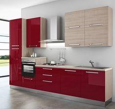 Cucina+componibile+,+Olga.++-+Basi+modello+Olga,+colore+Prugna+ ...