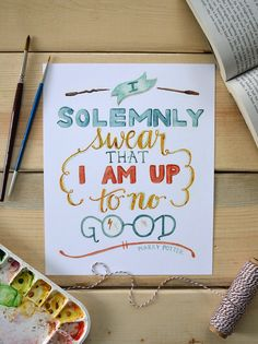 "Harry Potter "" I solemnly swear that I am up to no good""  "" Je jure solennellement que mes intentions sont mauvaises """